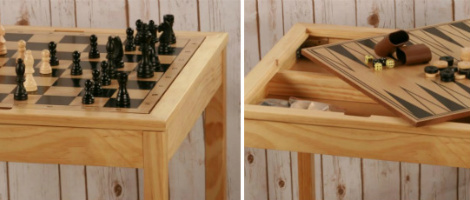 The 3 in 1 Wood Chess Table