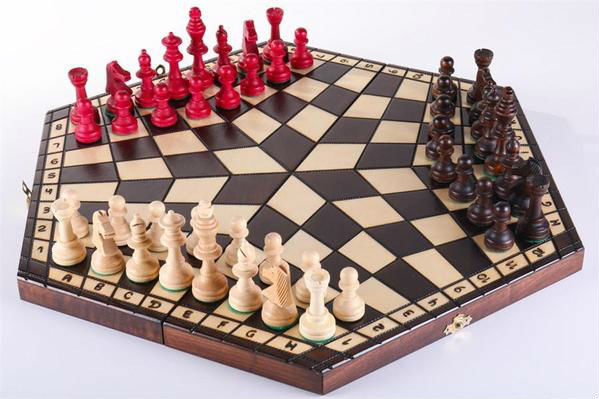3 Player Wood Chess Set
