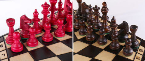 Wooden 3 Player Chess Set
