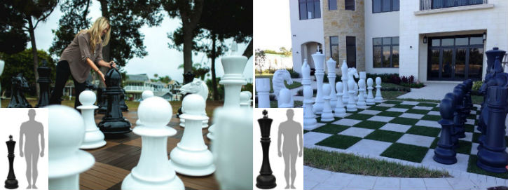 48 Inches and 72 Inches Giant Chess Sets