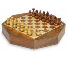 "9"" Magnetic Octagonal Chess Set"