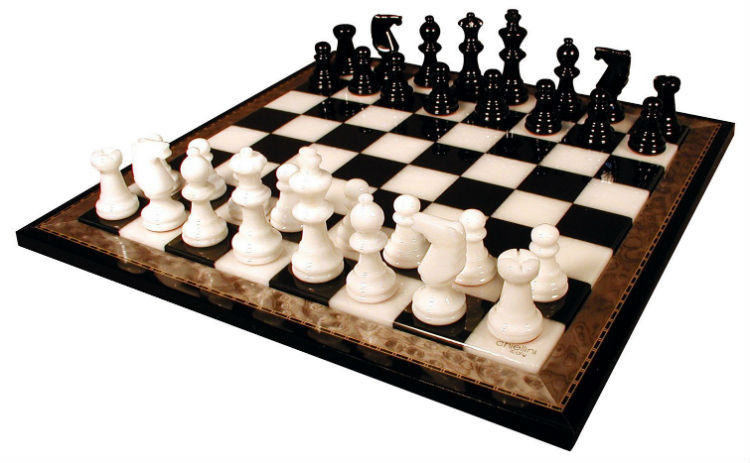 cool and opulent wood chess pieces. Black  White Alabaster Chess Set with Wood Frame The 10 Best Highest Quality Sets 2018 Buyer s Guide