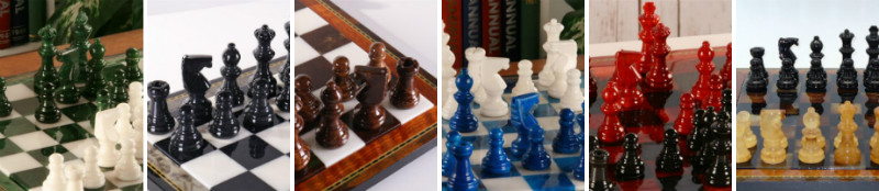 6 Alabaster Chess Sets