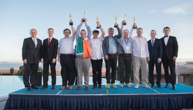 Winners of the 2017's Amateur Chess Championship in Kos