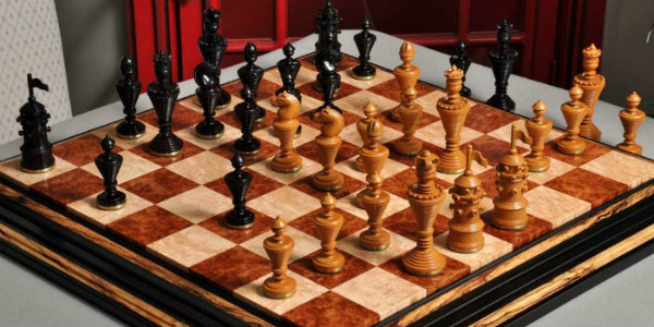 "The Anglo-Dutch Reproduction Luxury Wood Chess Pieces - 4.75"" King"