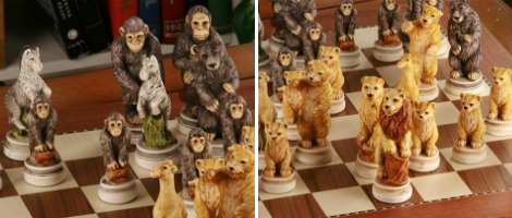 The Animal Kingdom Themed Chess Set