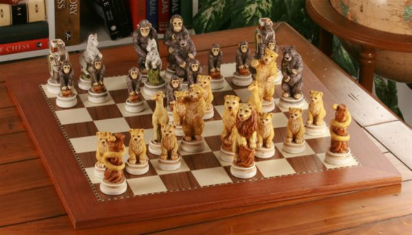 Animal Kingdom Themed Chess Set