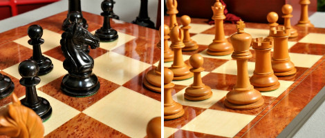 The Aversa Series Chess Set, Box, & Board Combination