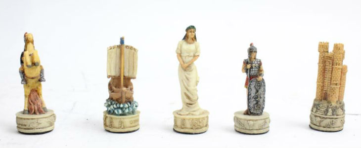 Battle of Troy Theme Chess Set Pieces