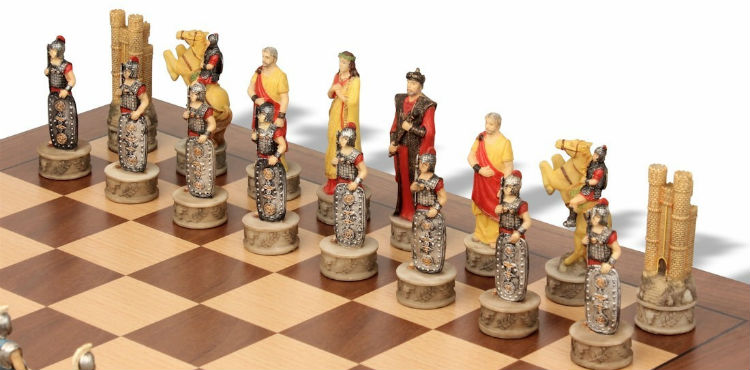 Battle of Troy Theme Chess Set Package - The Trojan Army