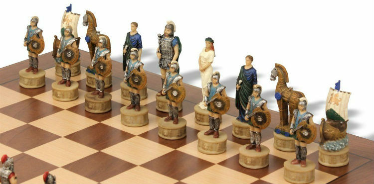 Battle of Troy Theme Chess Set Package - The Greek Army