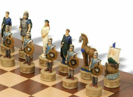 Battle of Troy Theme Chess Set Package