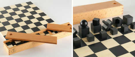 Bauhaus Chess Set - Board, Pieces & Box