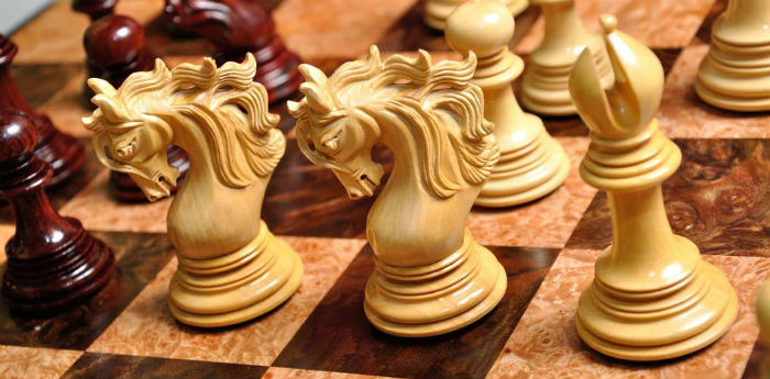 "The Forever Collection- Benvento Series Artisan Chess Pieces - 4.4"" King"