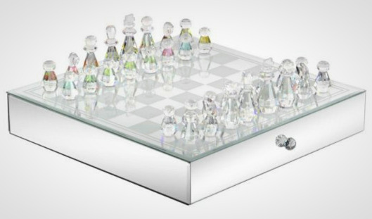 The Benzara Stunning Crystal Chess Set
