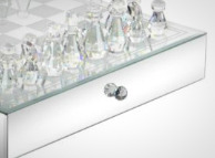 The Benzara Stunning Crystal Chess Set.