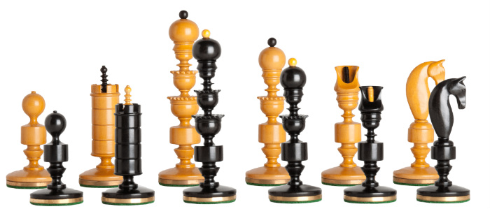 The Biedermeier Series Luxury Chess Pieces