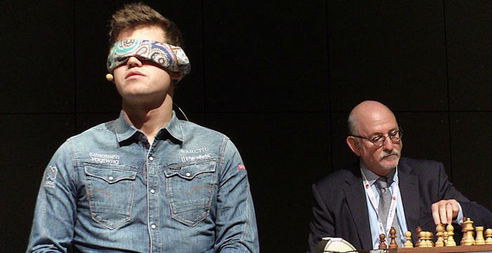 Magnus Carlsen Playing Blindfold Chess