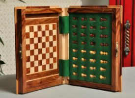 Book Travel Chess Set