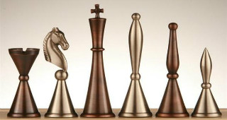 Brass Art Deco Men Chess Pieces