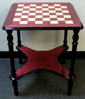 "Briarwood Lacquered Table - 2"" Squares - Red"