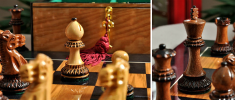 The Burnt Golden Rosewood Grandmaster Series Chess Set