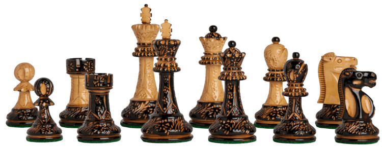 "The Burnt Reykjavik II Series Chess Pieces - 3.75"" King"