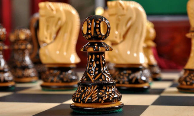 "The Burnt Zagreb'59 Series Chess Pieces - 3.875"" King"