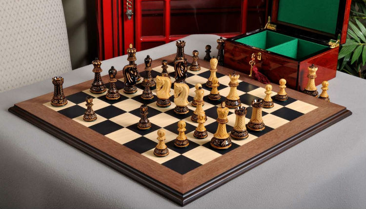 Burnt Zagreb '59 Series Chess Set