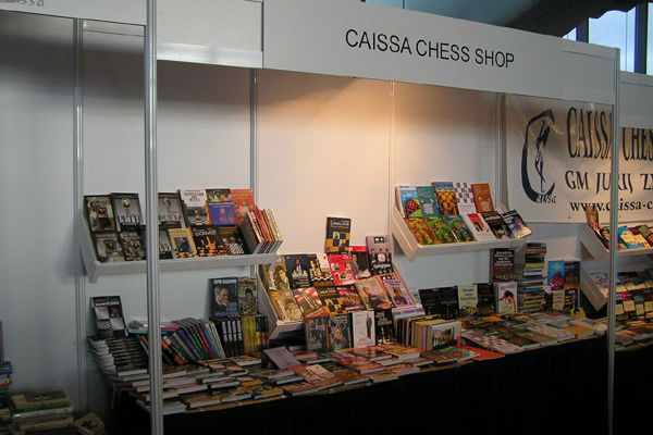 Caissa Chess Shop stand at the chess Olympiad in Germany