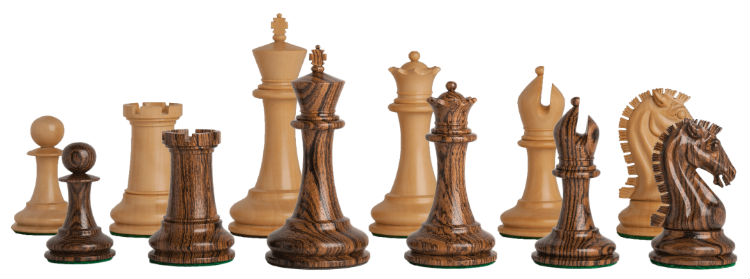 The Camaratta Signature Series Cooke Luxury Chess Set Pieces