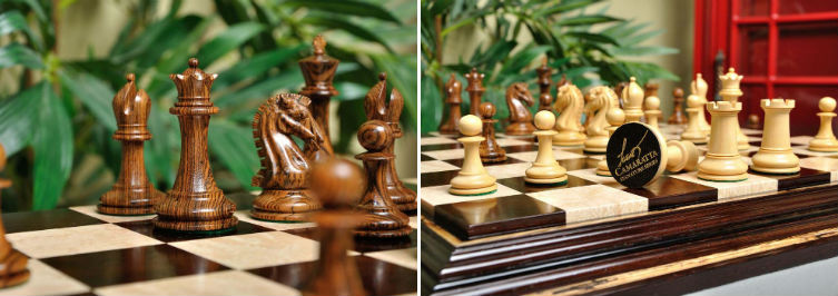 Camaratta Signature Series Cooke Luxury Chess Set & Board Combination