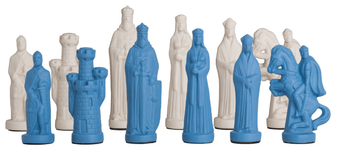 "The Camelot Series Luxury Porcelain Chess Pieces - 5"" king"