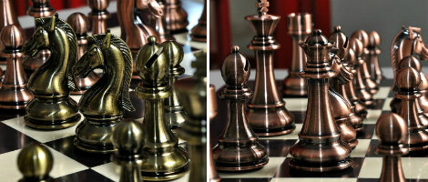 "The Candidates Series Chess Set - 4.25"" King – Metallic"