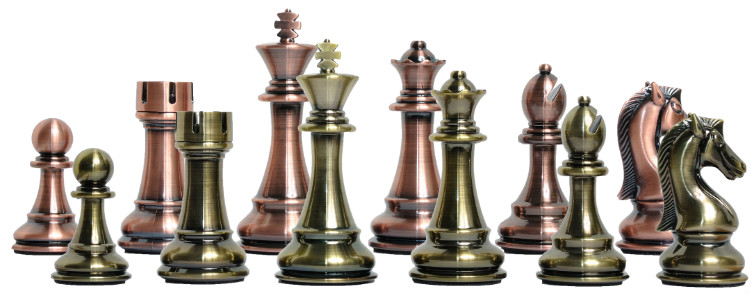 "The Candidates Series Chess Pieces- 4.25"" King – Metallic"