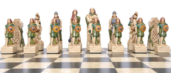 Celtic Vs. Vikings Chess Pieces - Celtic Pieces