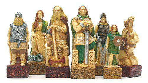 Celtic Vs. Vikings Chess Pieces – SAC Hand Decorated