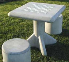 Outdoor Cement Chess Table