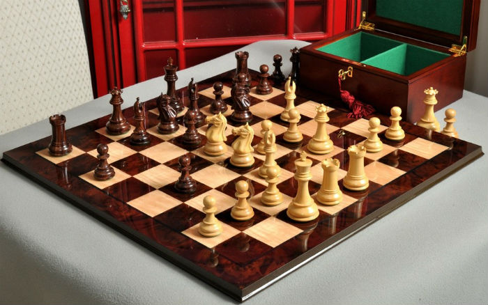The Centurion Series Staunton Chess Set, Box, & Board Combination