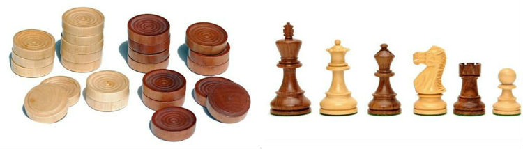 US Made Round Pedestal Game Table, Solid Cherry Wood Game Pieces