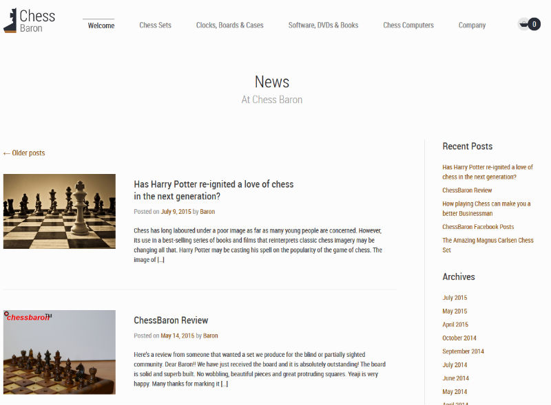 "The ChessBaron ""News"" Page"