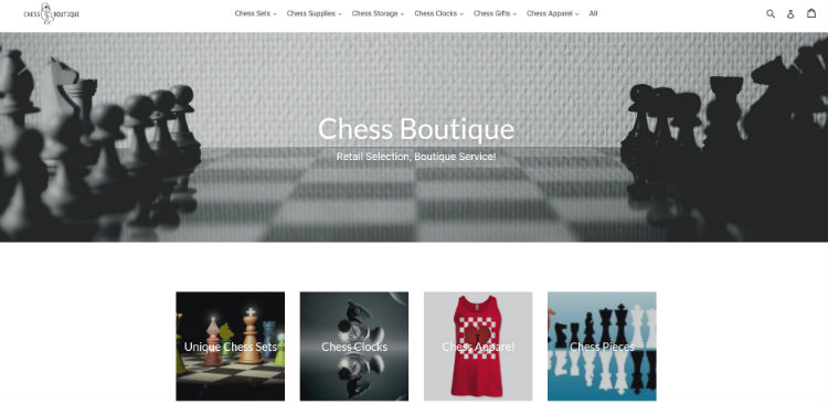 The Chess Boutique Website - chess.boutique