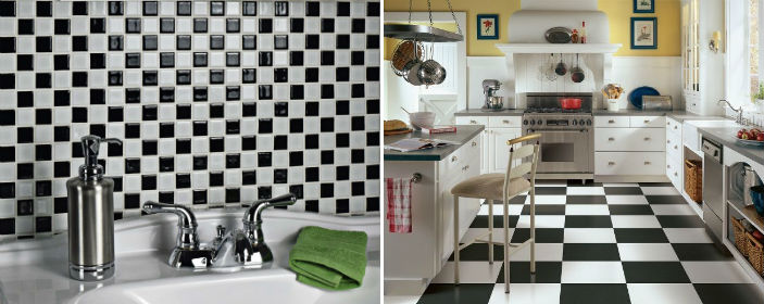 Examples of Black and White Tiles