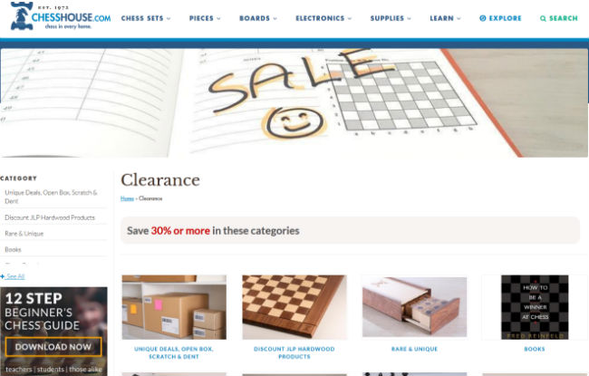 Chesshouse Clearance Section