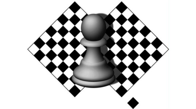 Pawn Chess Pieces With Chess Squares