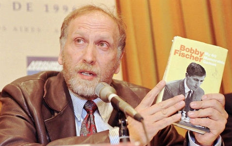Bobby Fischer Presenting His Biography Book
