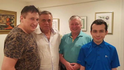 Anatoly Karpov and Maxim Dlugy at the Chess Max Summer Camp