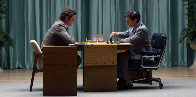 Scene from the Pawn Sacrifice chess movie