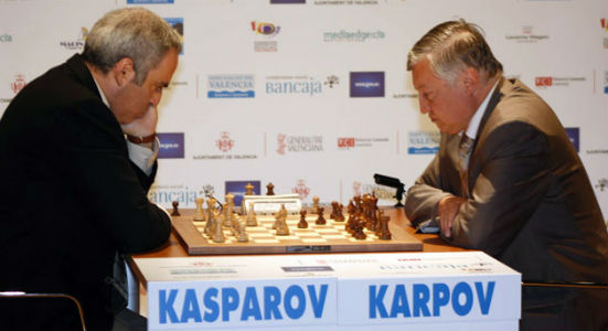 Chess Match Between Kasparov & Karpov