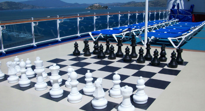 Giant Chess Set on a Cuise Ship
